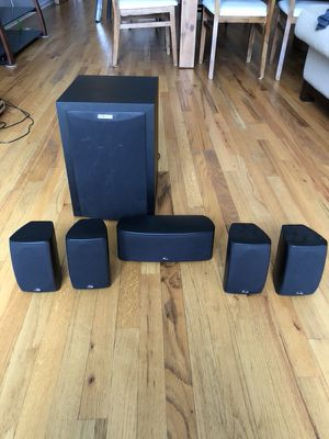 Onkyo Receiver, Polk Sub, Center and 4 Satellites for Sale in Chicago, IL