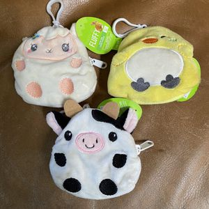 Brand New Soft Plush Animal Coin Purses $2 Each for Sale in Fresno, CA