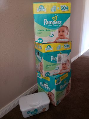 3 boxes Pampers Natural Clean wipes for Sale in San Diego, CA