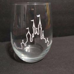 Disney Castle Heartbeat Stemless Glass for Sale in Whittier,  CA