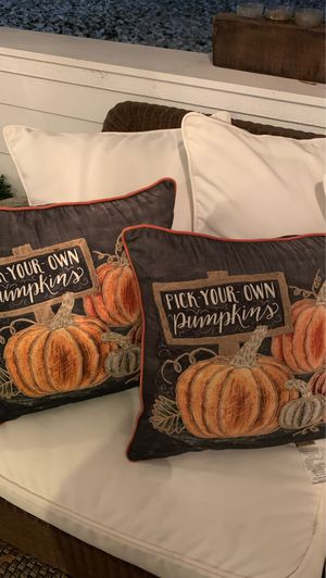 2 Embroidered pillows for Sale in Wenatchee, WA