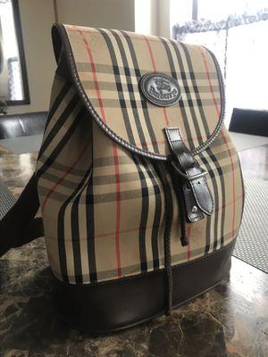 Vintage Burberrys Haymarket Novacheck backpack for Sale in Hartford, CT