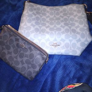Blue Coach Purse And Wallet for Sale in Salida, CA