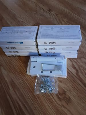 9 box large door hinges white brand new each box $5 for Sale in Pawtucket, RI