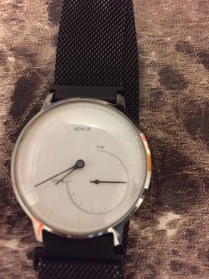 Nokia Activity Steel (Withing steel activity) HWA01 monitor watch. Count steps, pulse, etc but is a dress watch. No charging needed daily , battery l for Sale in Queens, NY