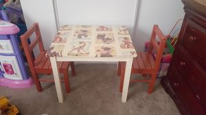 Small Kids Cartoon Tablw with Chairs for Sale in Ballwin, MO