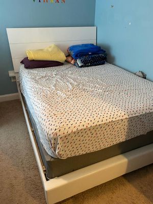 Full Size Bed Frame, Mattress, Box Spring for Sale in Chelmsford, MA