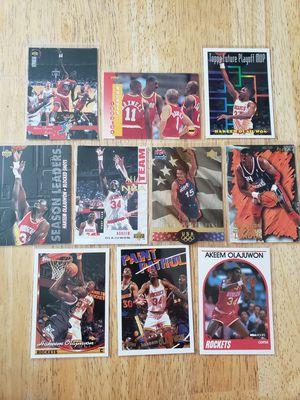 Hakeem Olajuwan Houston Rockets NBA basketball cards for Sale in Gresham, OR