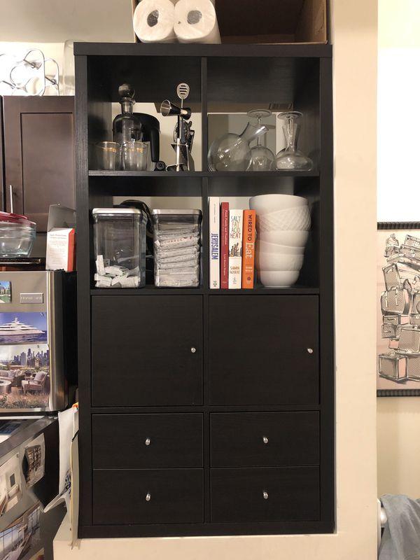 Ikea kalax cube pantry shelving unit 4 x 2