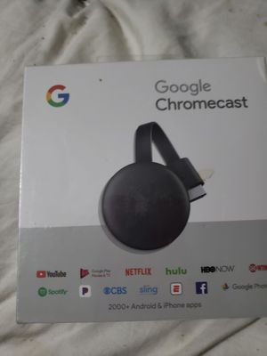 Google Chromecast Streaming Media Player (3nd Gen) ✔ BRAND NEW ✔ for Sale in Brockton, MA