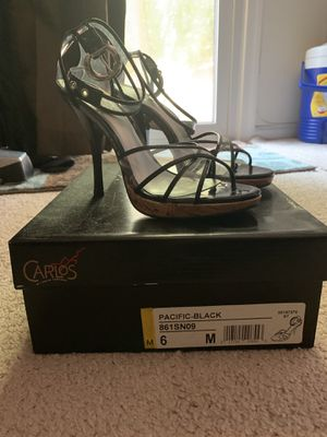 Carlos Santana clear and black heels size 6 for Sale in Fairfax, VA