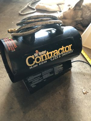 Contractor qbt series 38'000 btu shop heater propane with 10ft hose for Sale in Portland, OR