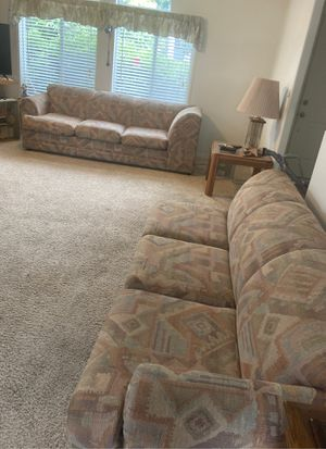Couch set, one section is a hide away bed $ 100 each $ 150 if you want both. for Sale in Maple Valley, WA
