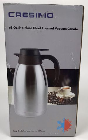New 68 oz Stainless Steel Thermal Coffee Carafe 12 Hour Heat Retention (Tarpon Springs) for Sale in Palm Harbor, FL