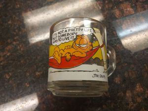 Vintage Collectible Garfield Glass Mug for Sale in Houston, TX