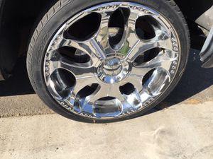 22 inch rims. Giovanna. Good condition for Sale in Perris, CA