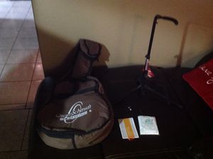 Guitar bag,guitar stand,and guitar strings for Sale in Houston, TX