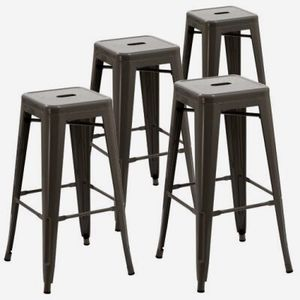 New in box $30 each 16x16x30 Inches Tall Steel Stackable Iron Metal Chair Bar Counter Height Stool Barstool Black White or Gunmetal Color for Sale in Covina, CA