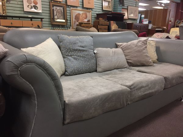 Couch gray leather