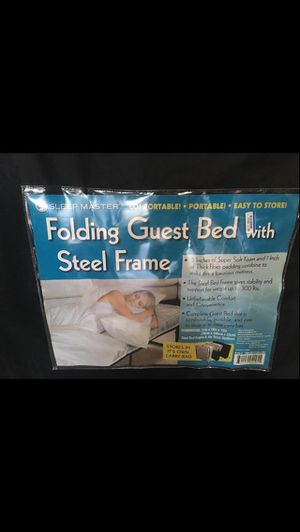 Sleep Master Folding Guest Bed with Steel Frame for Sale in Charleston, SC