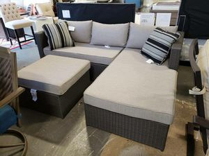 New outdoor patio furniture sectional sofa with ottoman tax included for Sale in Hayward, CA