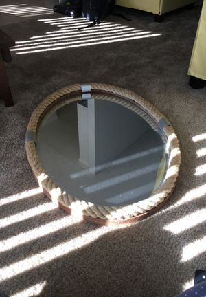 Oval roped nautical themed mirror for Sale in Los Angeles, CA