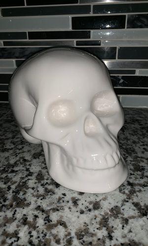 Ceramic skull Halloween decoration for Sale in Orlando, FL