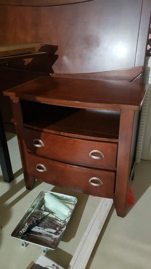 Queen bed frame and night stand for Sale in West Palm Beach, FL