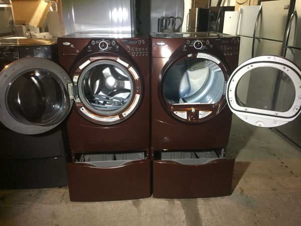 Brown Washer And Electric Dryer
