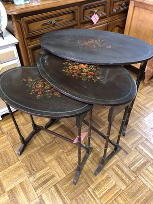 Vintage antique hand painted nesting tables pick up la Mesa for Sale in San Diego, CA