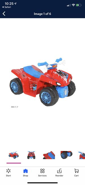 Spider-Man 6V Quad Ride On Toy For Kids for Sale in Chandler, AZ