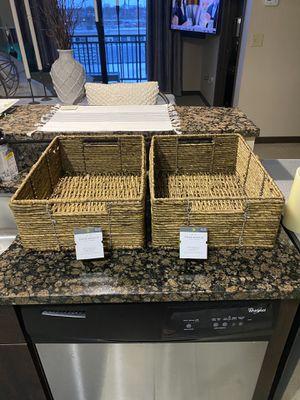 Set of 2 storage baskets for Sale in Fort Wayne, IN