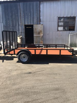 """New 8.5x14x1 utility trailer ( 82"""" deck for extra wide utv ) for Sale in Colton, CA"""