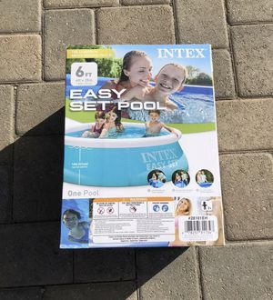 Intex Pool 6x20 6ft X 20in Easy Set Above Ground Pools, 6 x 20, New for Sale in Vallejo, CA
