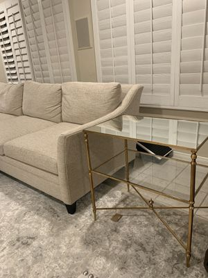 Brand New Beautiful gold leaf mirrored end table for Sale in San Diego, CA
