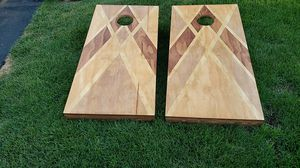 Quality hand made regulation size corn hole games for Sale in Forest Lake, MN