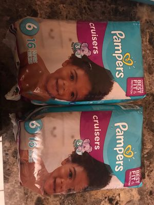 Pampers cruiser size 6. $6 each for Sale in Revere, MA
