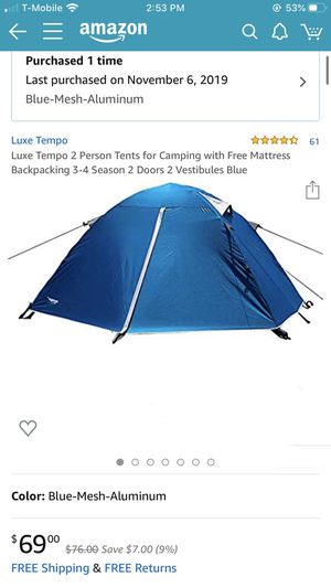 Brand new 2 person versatile tent for camping lover for Sale in Monterey Park, CA