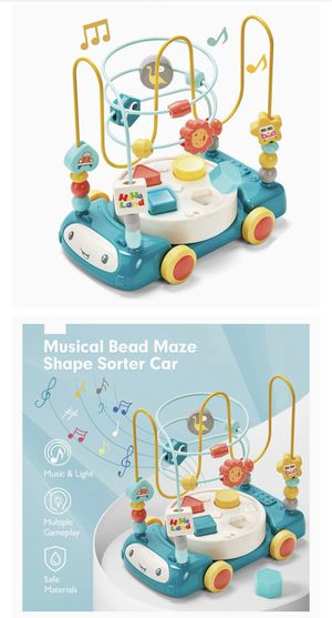 Bead Maze Shape Sorter Music Light Baby Toys 6 to 12-18 Months Baby Einstein Toddler Boy Girl Toys Age 1-2 Kids Gifts Toys for 1 Year Old Boy Girl To for Sale in Burke, VA