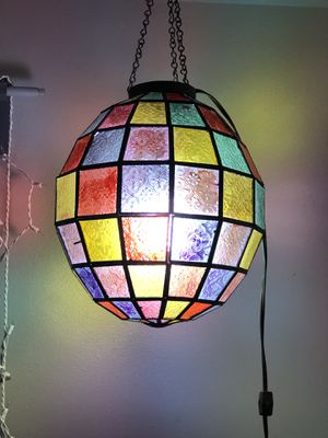 Stained Glass Pendant Lamp! for Sale in Seattle, WA