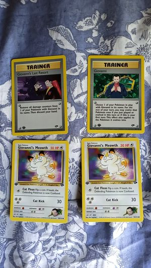 1st edition Giovanni pokemon cards MINT for Sale in Jacksonville, FL