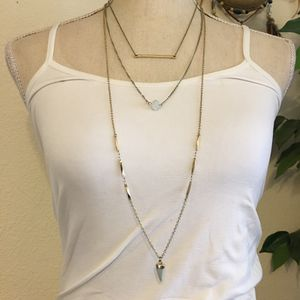 Triple strand layered glass accent necklace for Sale in Henderson, NV