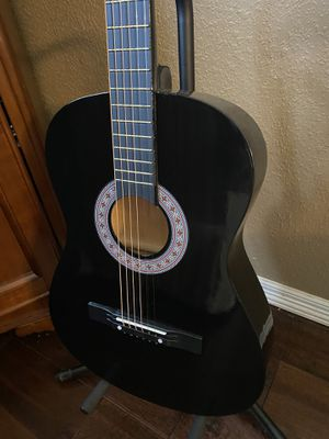 7/8 Size Black Acoustic Guitar with Extra Strings, Cover, Pick, Strap $75 Firm for Sale in Arlington, TX