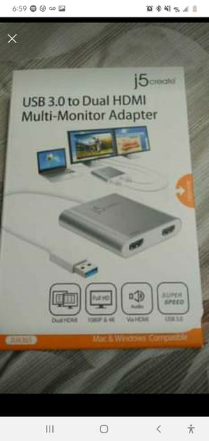 usb 3.0 dual hdmi adapter brand new for Sale in Lafayette, LA