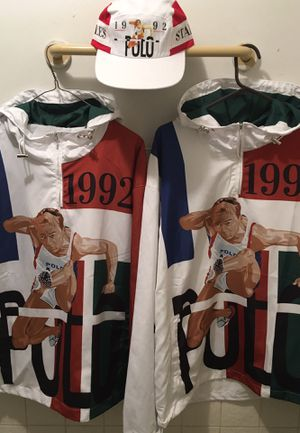 Polo Hurdles windbreaker hoodie, S, M,L ( sold individually/hat not included) for Sale in Brooklyn, NY