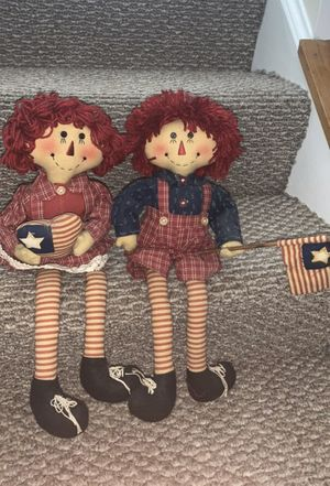 Raggedy Ann and Andy shelf sitters for Sale in Export, PA