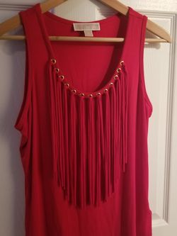 Michael Kors Red Fringed Tank Top Women size M for Sale in Nashville,  TN