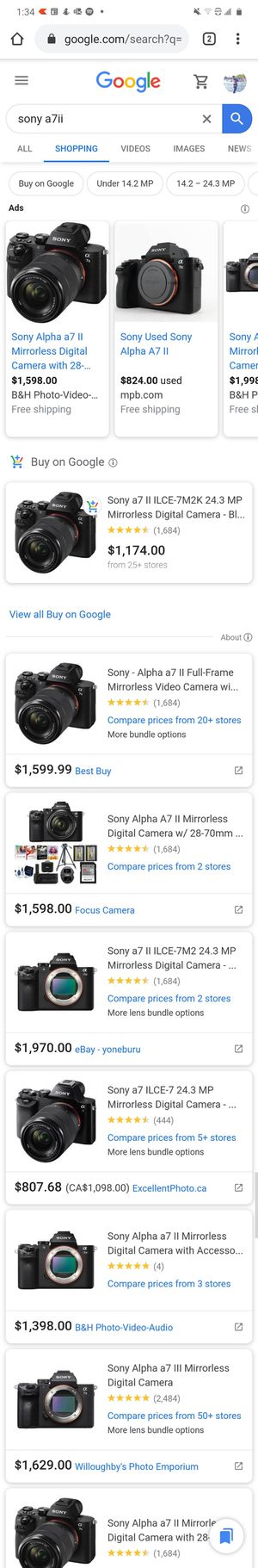 Deal!!! Sony A7II, camera body very best condition for Sale in Richmond, VA