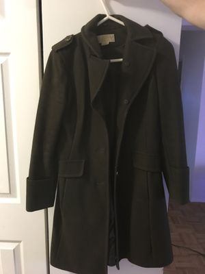 Michael Kors trench coat, olive green for Sale in Boston, MA