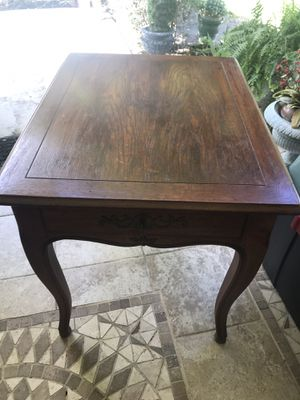Pair of Henredon walnut end tables for Sale in Delray Beach, FL